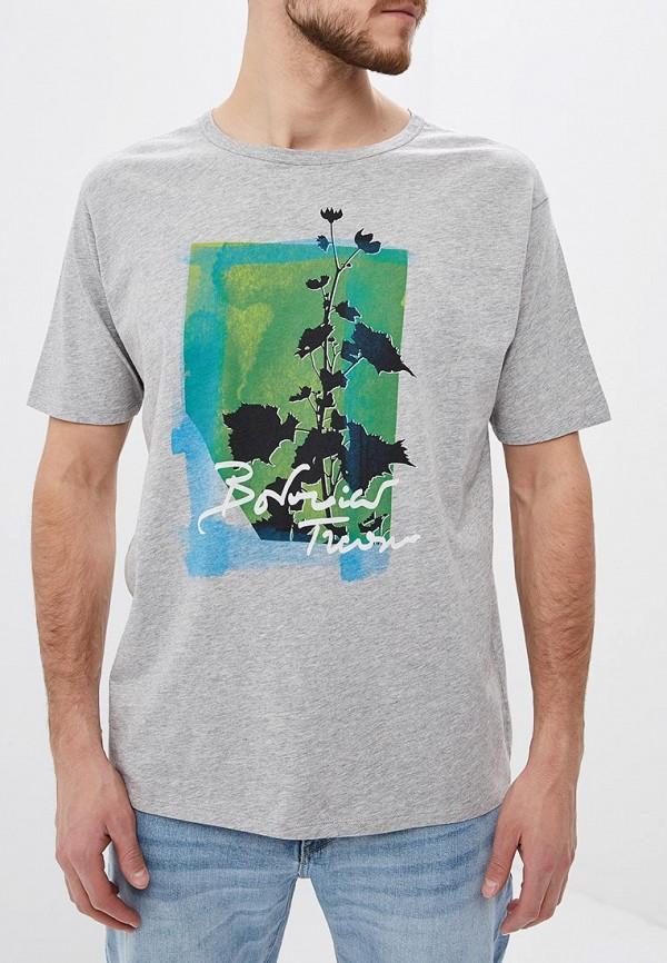 Фото - мужскую футболку United Colors of Benetton серого цвета