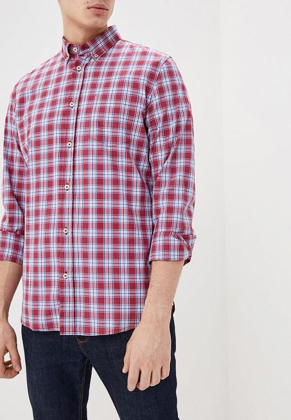 мужская рубашка с длинным рукавом united colors of benetton, розовая
