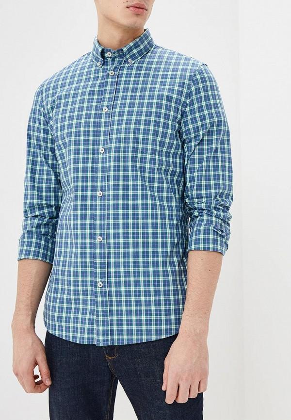Фото - мужскую рубашку United Colors of Benetton синего цвета