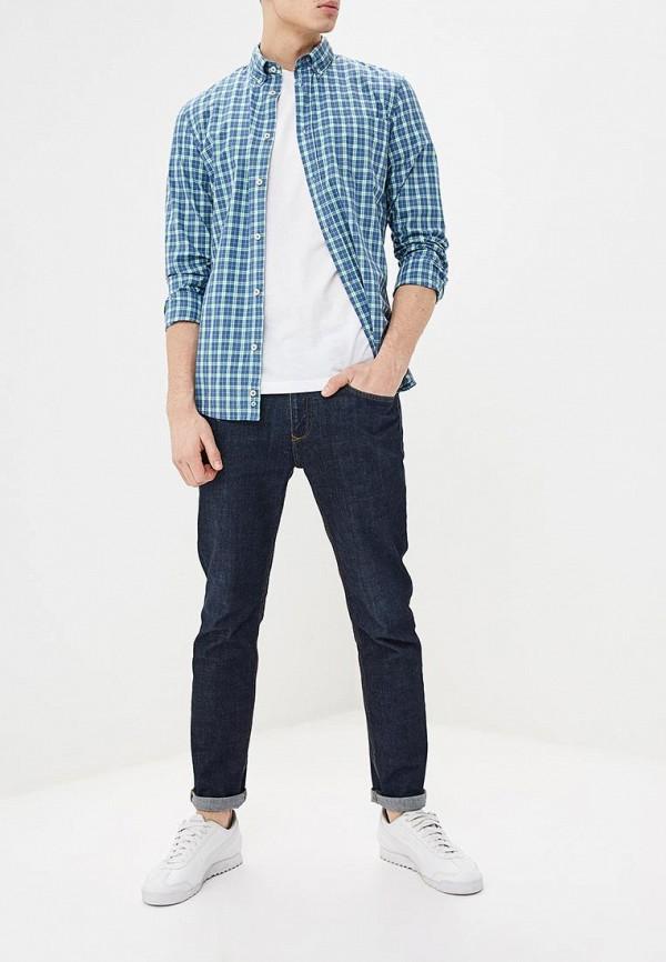 Фото 2 - мужскую рубашку United Colors of Benetton синего цвета
