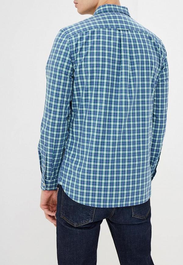 Фото 3 - мужскую рубашку United Colors of Benetton синего цвета