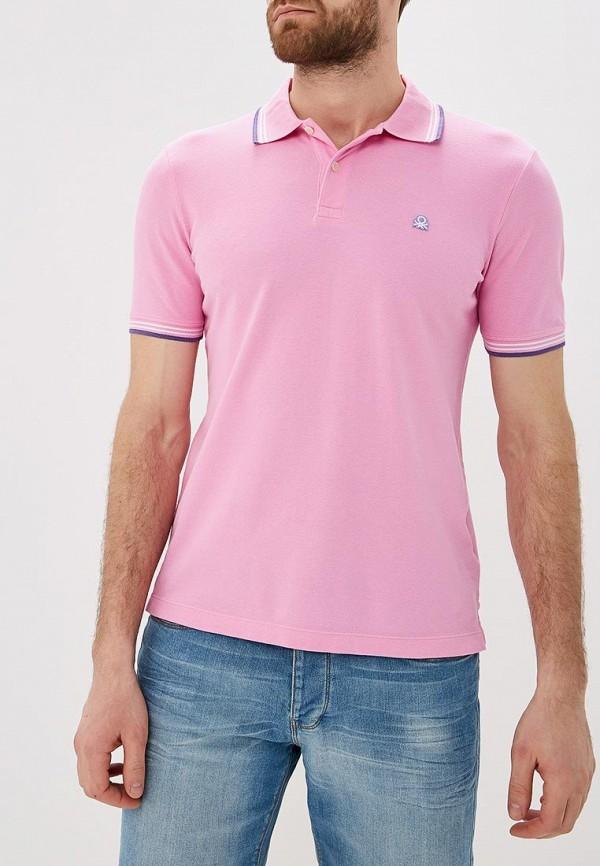 мужское поло united colors of benetton, розовое