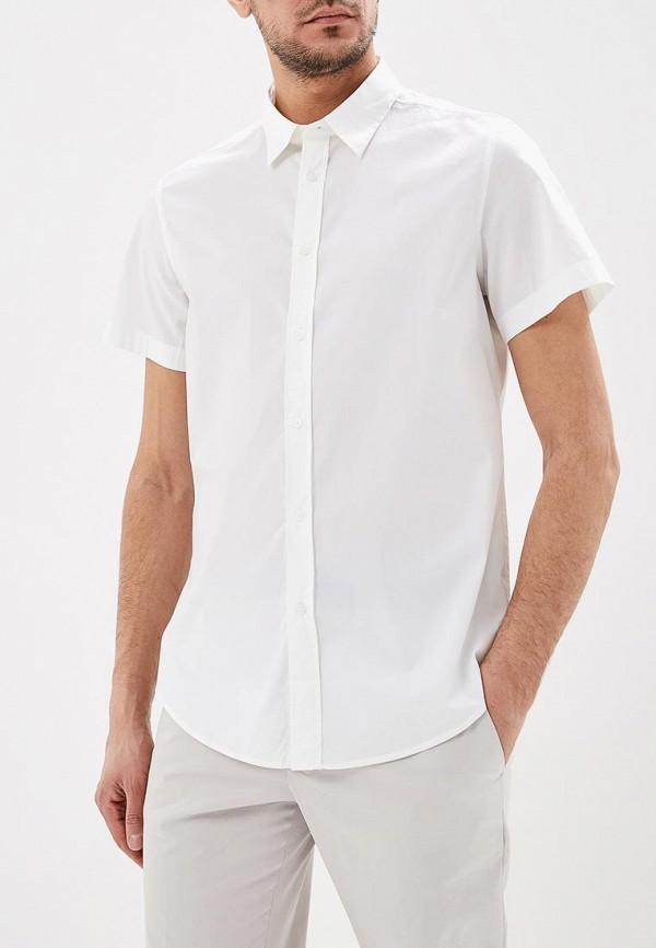 мужская рубашка с коротким рукавом united colors of benetton, белая