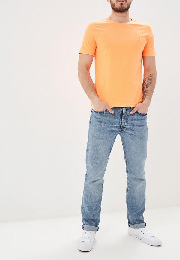 Фото 2 - мужскую футболку United Colors of Benetton оранжевого цвета