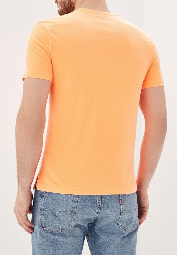 Фото 3 - мужскую футболку United Colors of Benetton оранжевого цвета