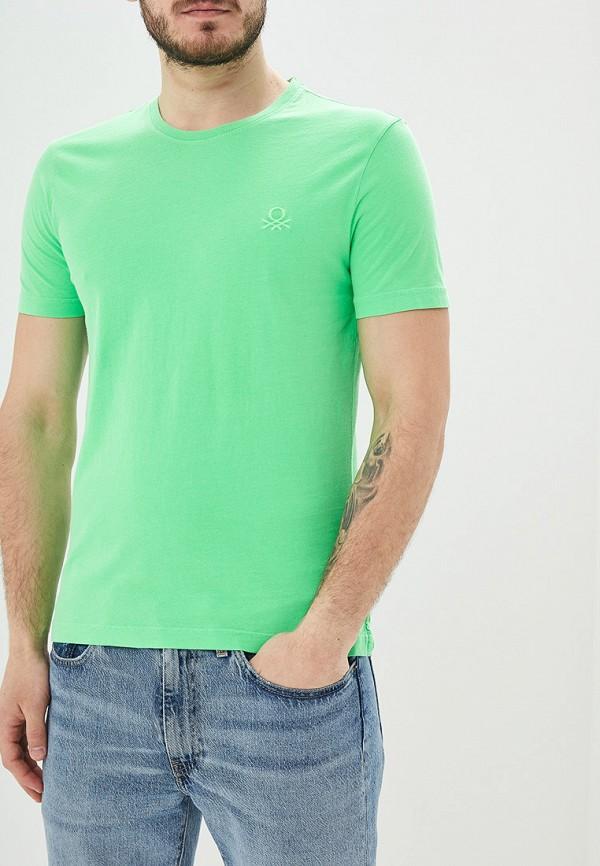 мужская футболка с коротким рукавом united colors of benetton, зеленая