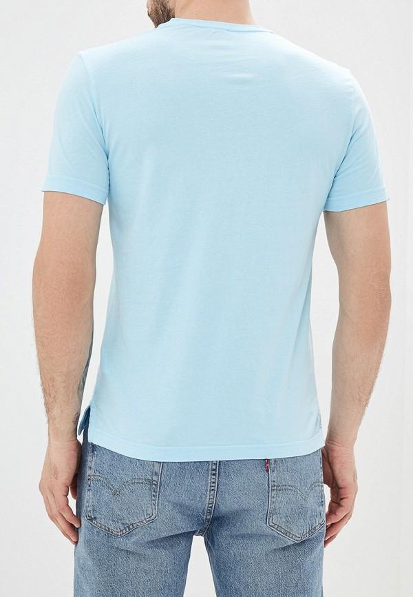Фото 3 - мужскую футболку United Colors of Benetton голубого цвета