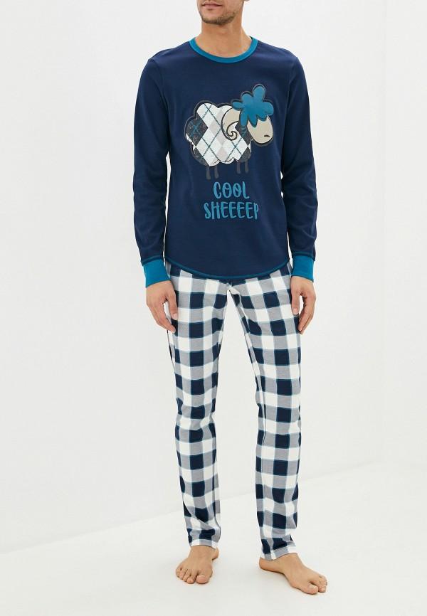 мужская пижама united colors of benetton, синяя