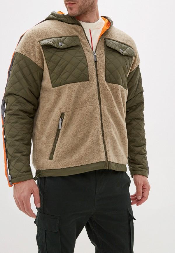 мужская куртка united colors of benetton, бежевая