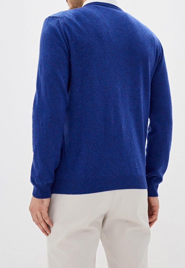 Фото 3 - мужской пуловер United Colors of Benetton синего цвета