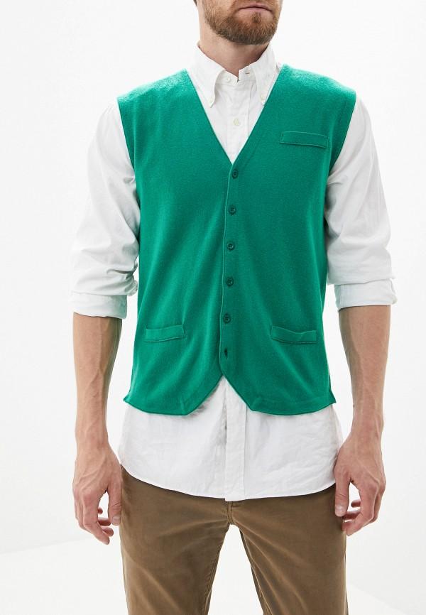 мужской жилет united colors of benetton, зеленый