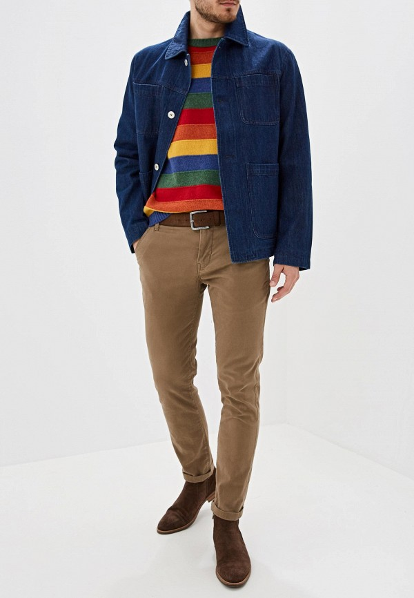 Фото 2 - Куртку джинсовая United Colors of Benetton синего цвета