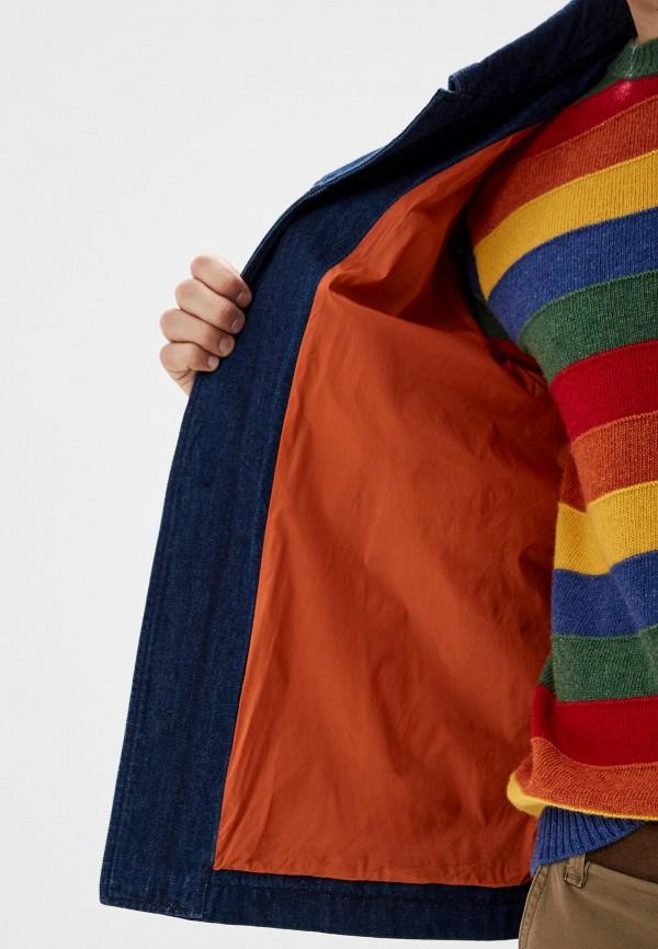 Фото 4 - Куртку джинсовая United Colors of Benetton синего цвета
