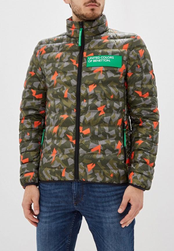 Фото - Куртку утепленная United Colors of Benetton цвета хаки
