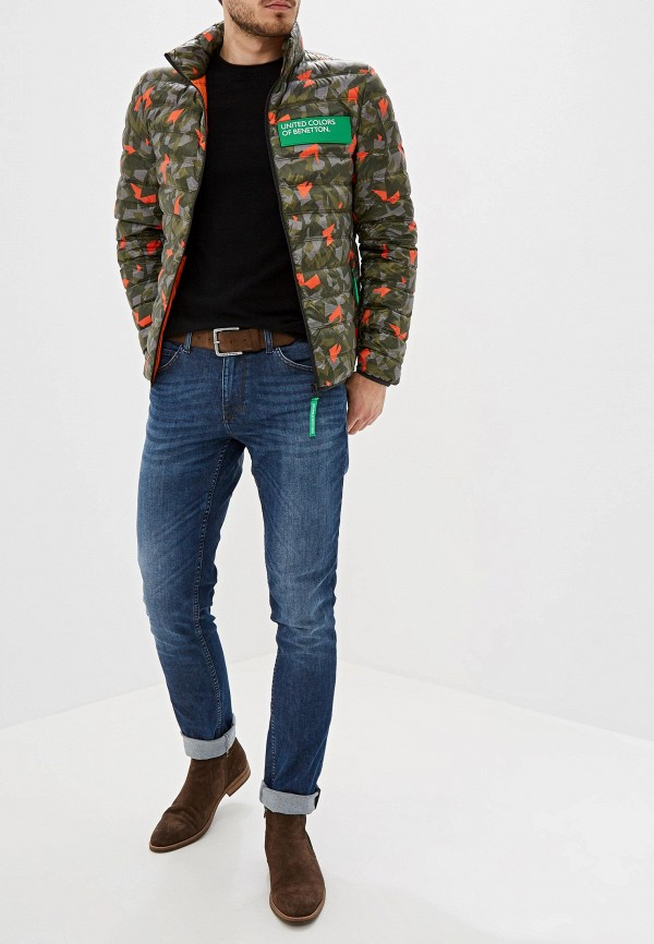 Фото 2 - Куртку утепленная United Colors of Benetton цвета хаки