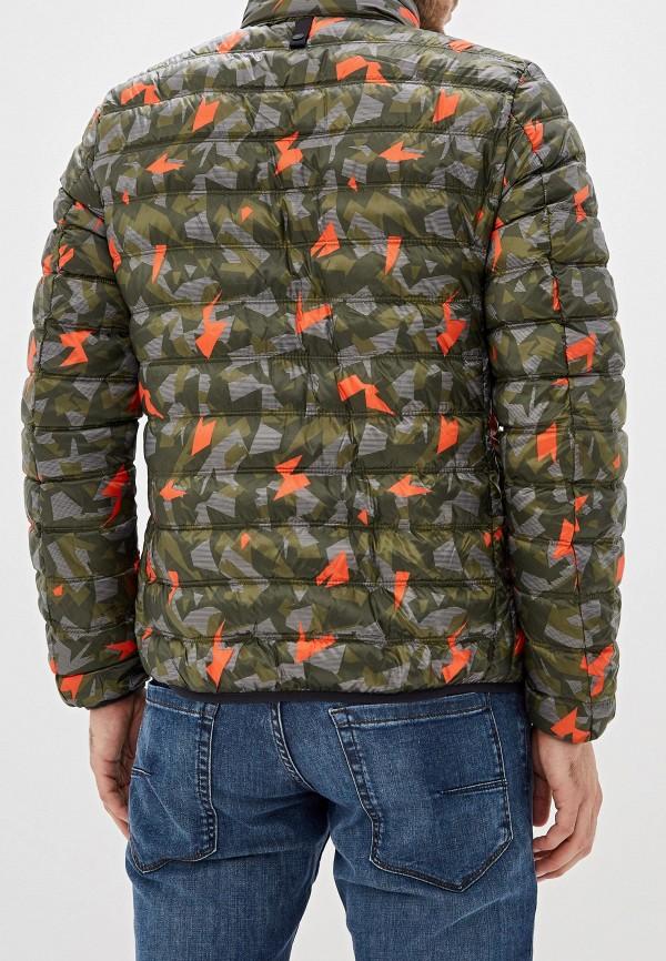 Фото 3 - Куртку утепленная United Colors of Benetton цвета хаки