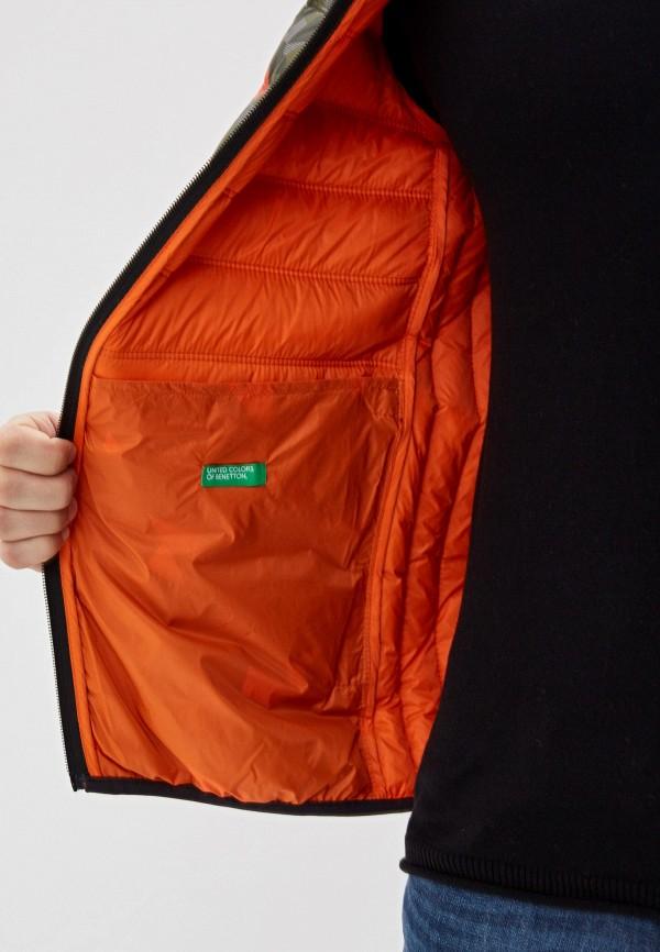 Фото 4 - Куртку утепленная United Colors of Benetton цвета хаки