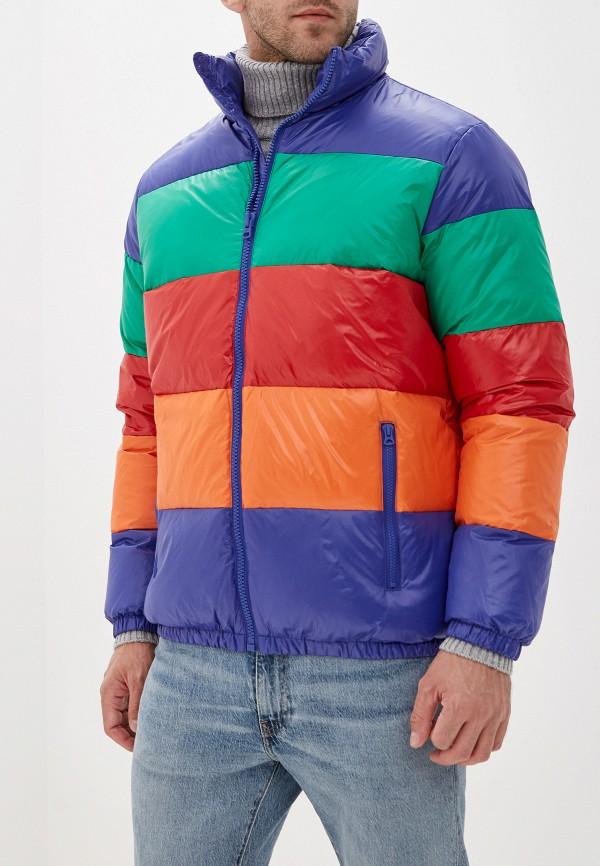 мужской пуховик united colors of benetton, разноцветный