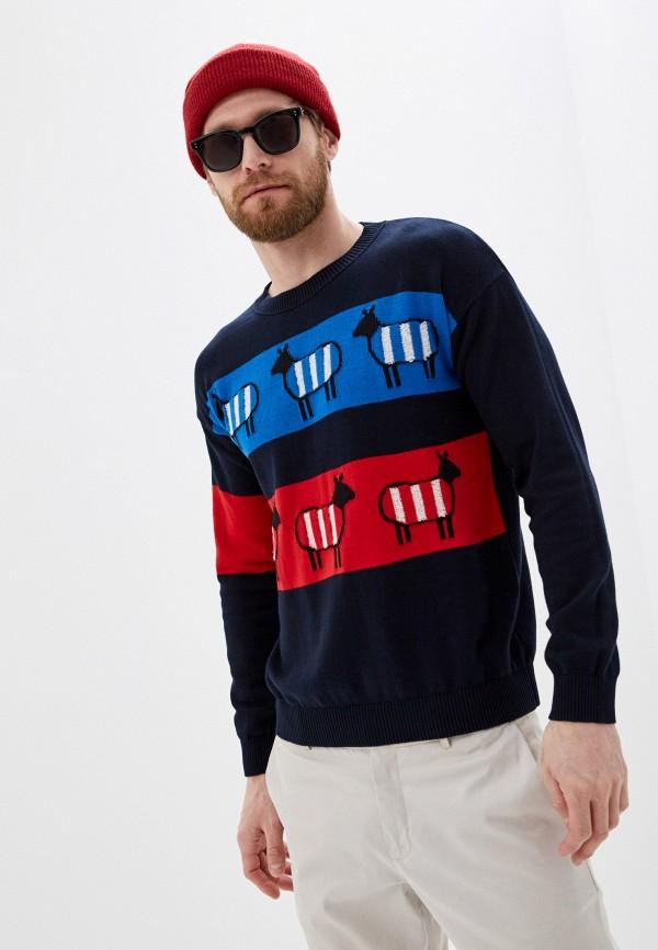мужской джемпер united colors of benetton, синий