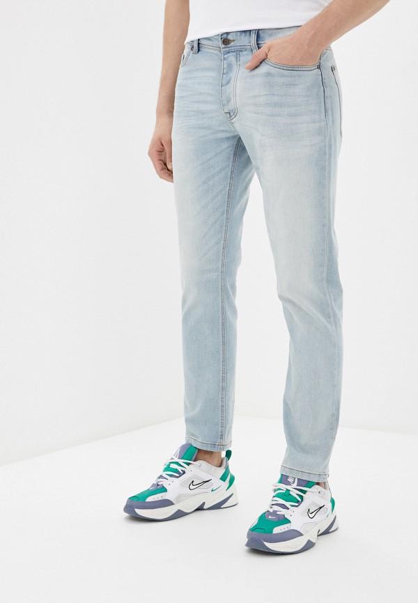 мужские зауженные джинсы united colors of benetton, голубые