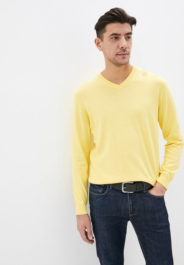 мужской пуловер united colors of benetton, желтый