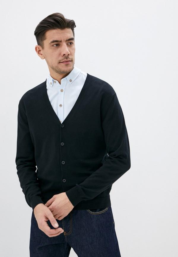 мужской кардиган united colors of benetton, черный
