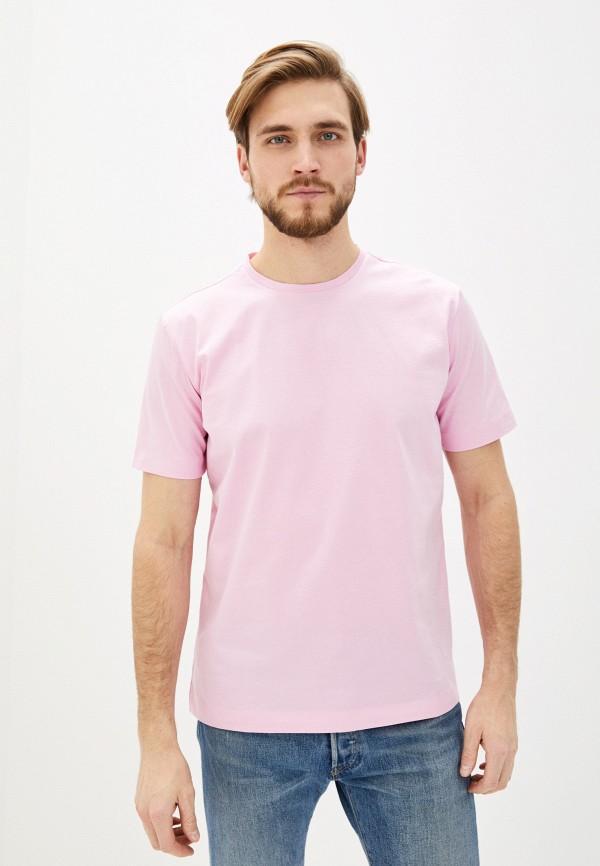 мужская футболка с коротким рукавом united colors of benetton, розовая
