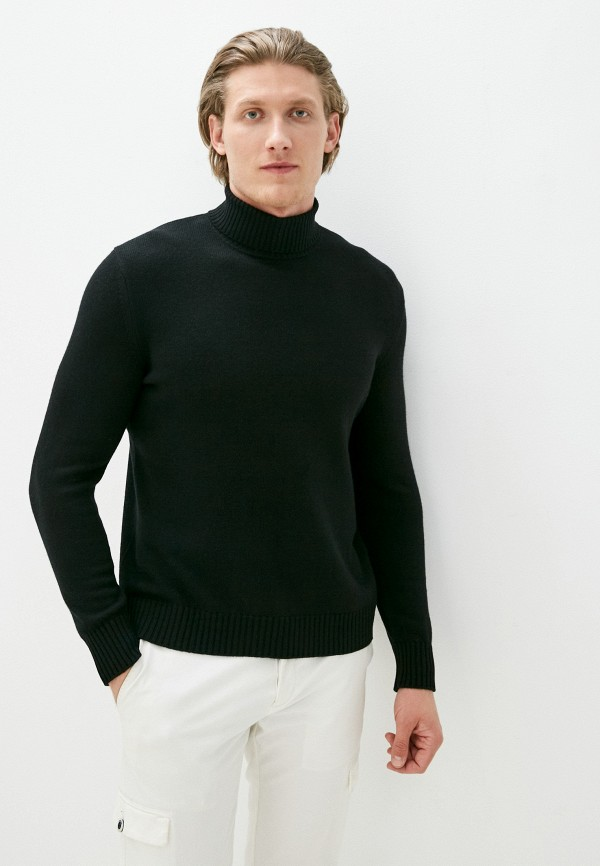 мужская водолазка united colors of benetton, черная