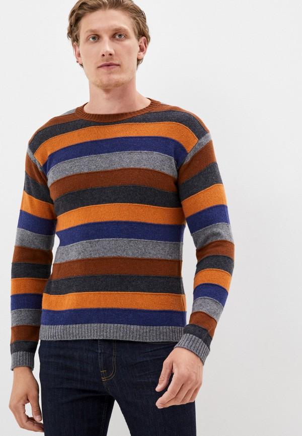 мужской джемпер united colors of benetton, коричневый
