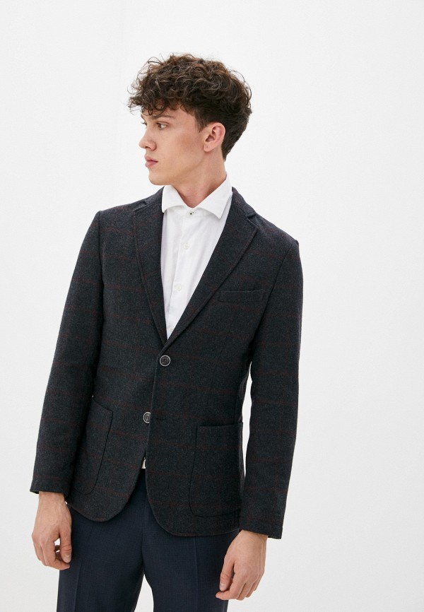 мужской пиджак united colors of benetton, серый