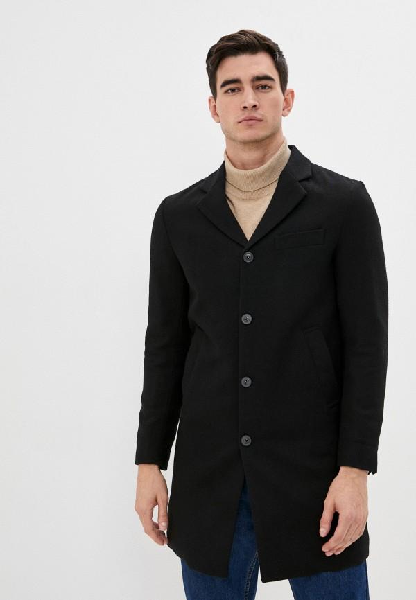 мужское пальто united colors of benetton, черное