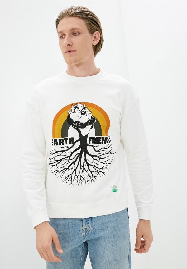 мужской свитшот united colors of benetton, белый