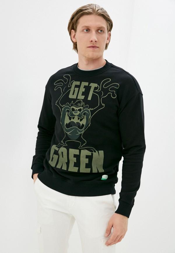 мужской свитшот united colors of benetton, черный