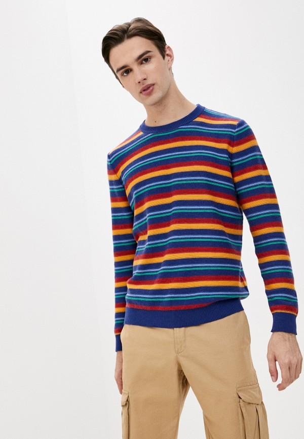 мужской джемпер united colors of benetton, разноцветный
