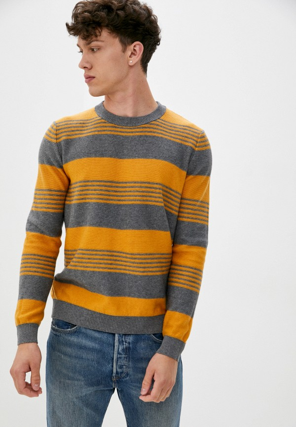 мужской джемпер united colors of benetton, оранжевый