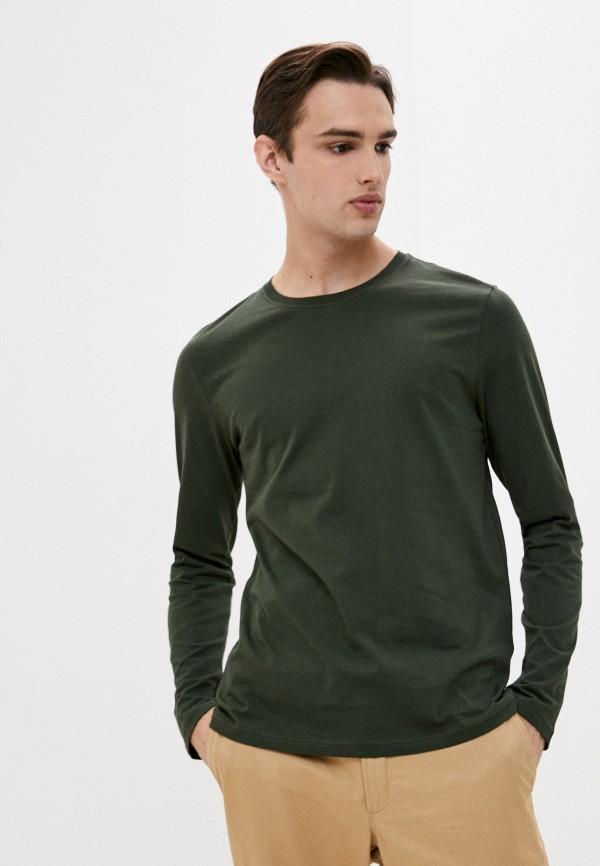мужской лонгслив united colors of benetton, зеленый