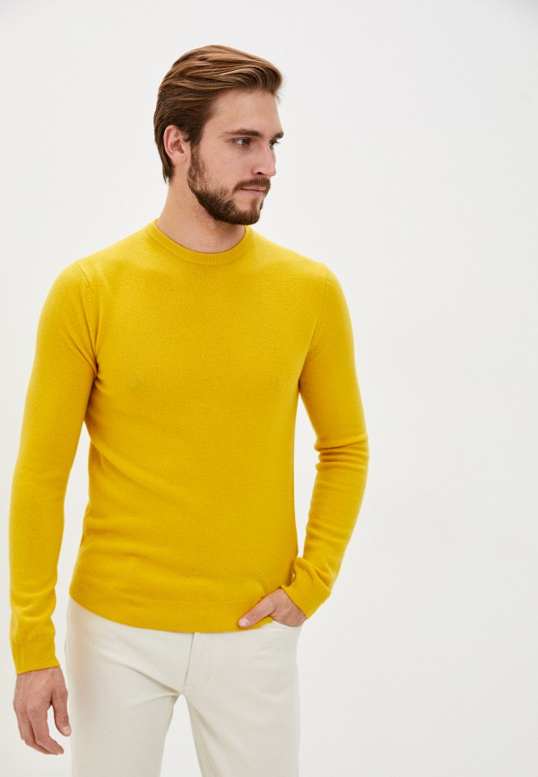 мужской джемпер united colors of benetton, желтый