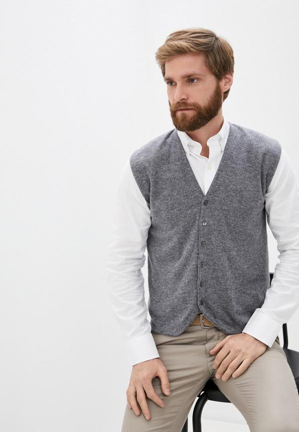 мужской жилет united colors of benetton, серый