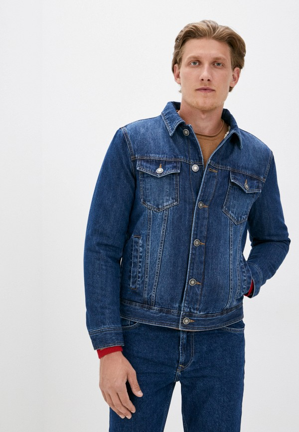 мужская джинсовые куртка united colors of benetton, синяя