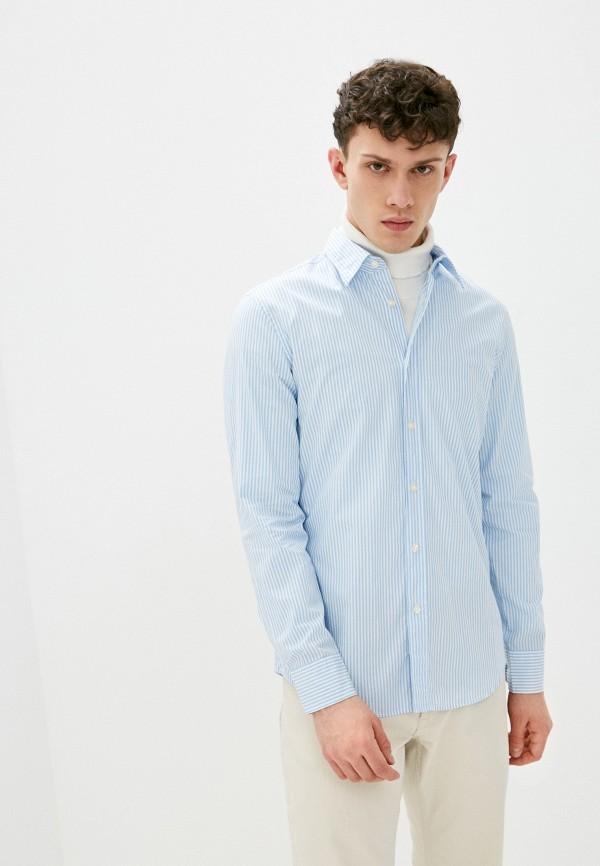 мужская рубашка united colors of benetton, голубая
