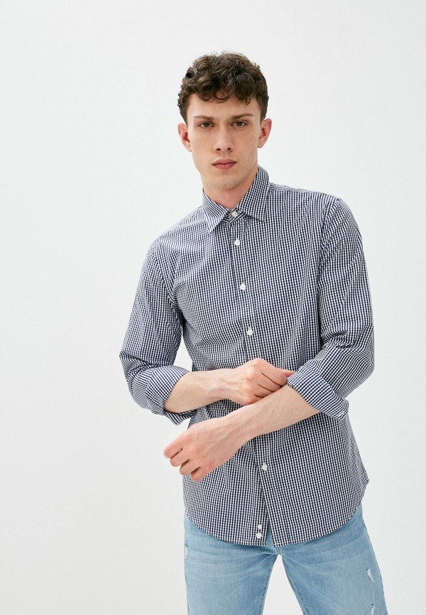 мужская рубашка united colors of benetton, синяя