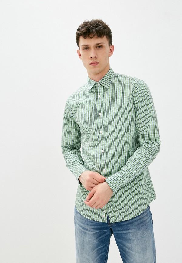 мужская рубашка с длинным рукавом united colors of benetton, зеленая