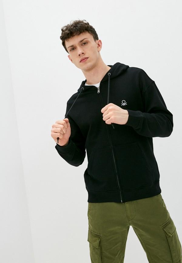 мужская толстовка united colors of benetton, черная