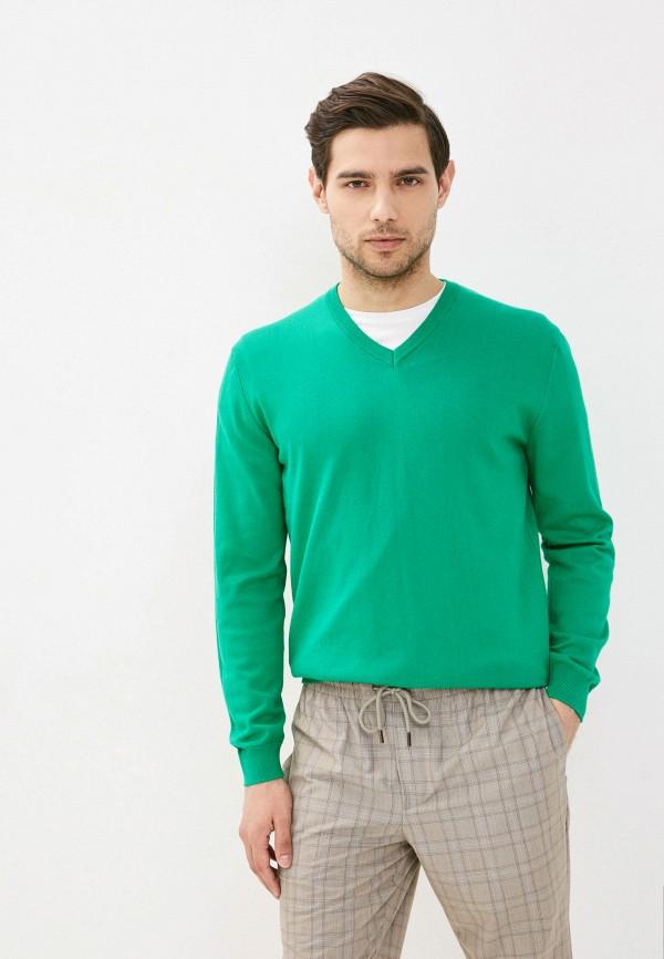 мужской пуловер united colors of benetton, зеленый