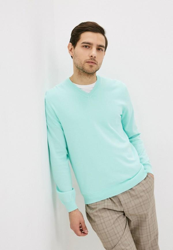 мужской пуловер united colors of benetton, бирюзовый