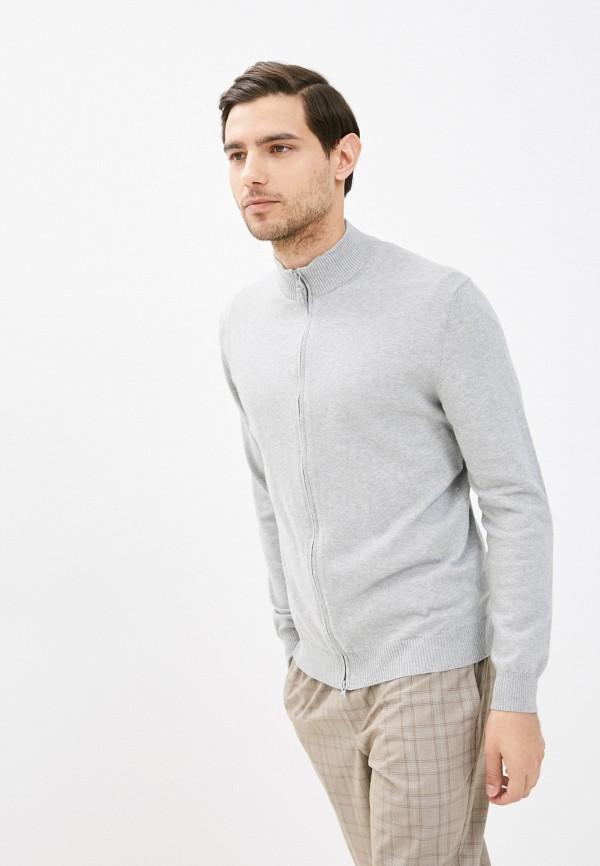 мужской кардиган united colors of benetton, серый