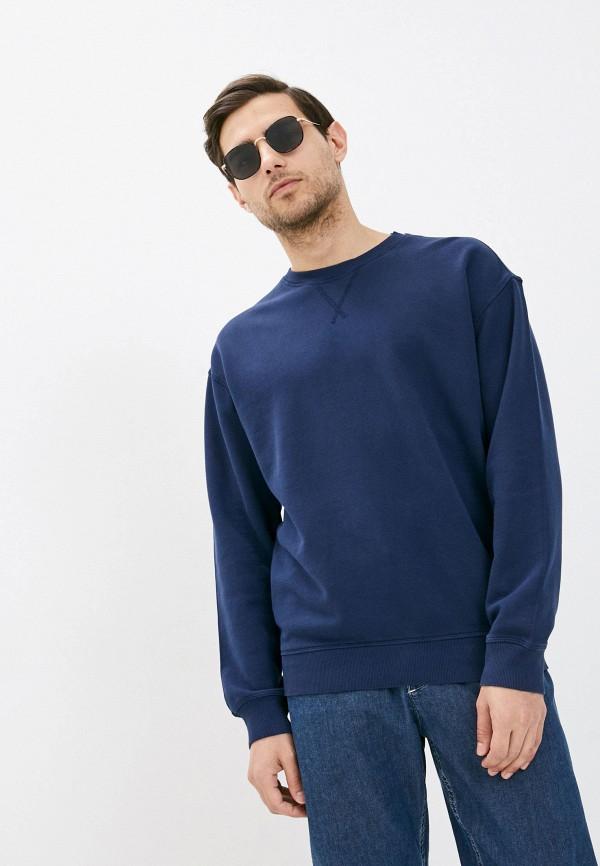 мужской свитшот united colors of benetton, синий