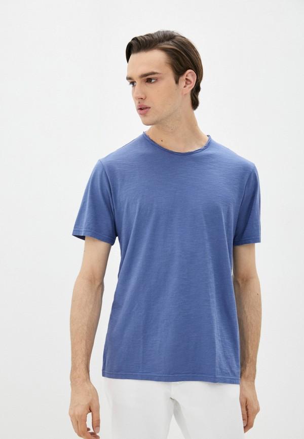 мужская футболка с коротким рукавом united colors of benetton, голубая