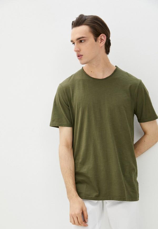 мужская футболка с коротким рукавом united colors of benetton, хаки