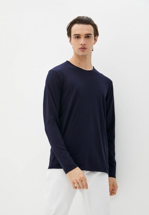 мужской лонгслив united colors of benetton, синий